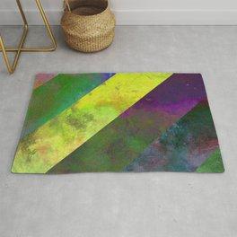 45 Degrees - Abstract, textured, diagonal stripes Rug