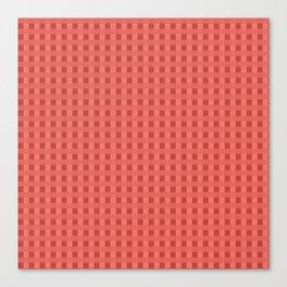 Retro Red Squares Canvas Print