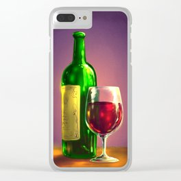 Still Life With Wine Clear iPhone Case