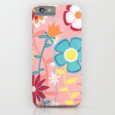 Flowers on Pink iPhone 6s Slim Case