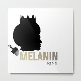 Melanin King Metal Print