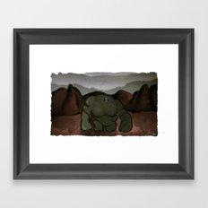 Riften Troll Framed Art Print