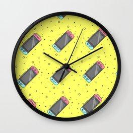 Switch Pattern Yellow Wall Clock