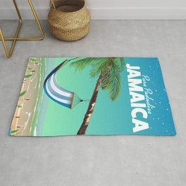 'Pure Paradise' Jamaica travel poster Rug