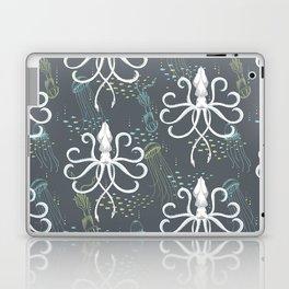 Ghostly Squid Damask Laptop & iPad Skin