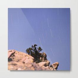 Vazquez Rocks Star Trails Metal Print