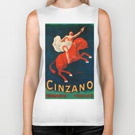 Vintage poster - Cinzano Vermouth Torino Biker Tank