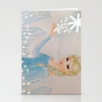 frozen elsa Stationery Cards featuring Elsa - frozen by Amana HB
