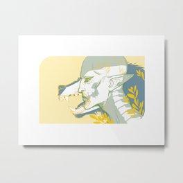 Dread Wolf Metal Print