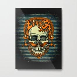 Live 2 Rock Hard Metal Print