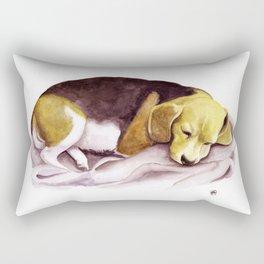 Beagle Watercolor Painting Rectangular Pillow