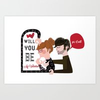 Will you be my Valentine?  Art Print