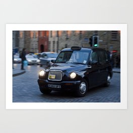 Royal Mile Cabby  Art Print