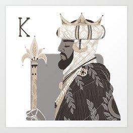 King M. Art Print