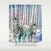 camouflage Shower Curtains featuring Camouflage by GnarlyBones