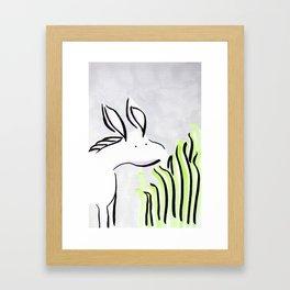 Just a snack Framed Art Print