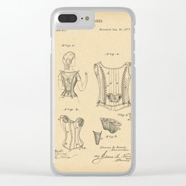 1877 Patent Corset Clear iPhone Case