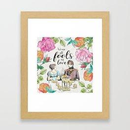 Pride and Prejudice - Fools in Love Framed Art Print