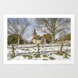 Postling Church Art Print