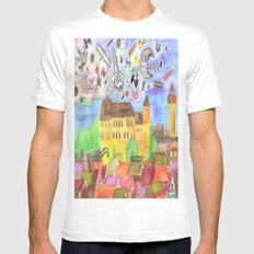 1561 Aerial Battle Over Nuremberg Reimagined from Kaiserberg Mens Fitted Tee MEDIUM White