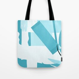 Matisse Inspired Teal Collage Tote Bag