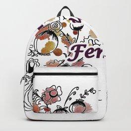 letterings purple Backpack