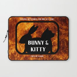 Bunny and Kitty Two of a Kind Laptop Sleeve