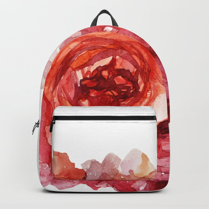 Watercolor peony Backpack