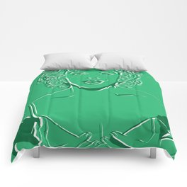 Lady in Green Comforters