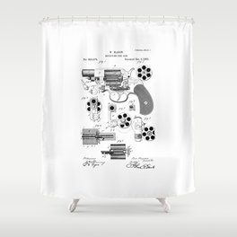 1881 Revolver Patent  Shower Curtain