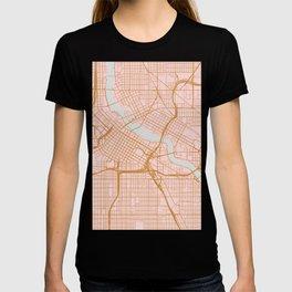 Minneapolis map, Minnesota T-shirt