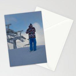 ski orange yellow Stationery Cards