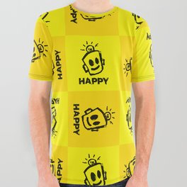 HAPPY  All Over Graphic Tee