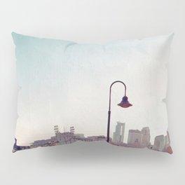 Minneapolis Minnesota Skyline at the Stone Arch Bridge Pillow Sham