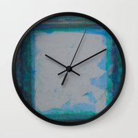 frame Wall Clocks featuring Frame by Kristin Rodgers