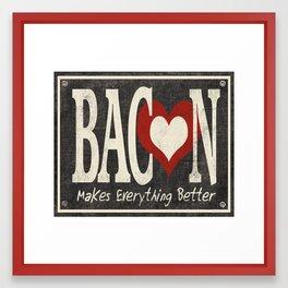 Bacon Makes Everything Better Framed Art Print