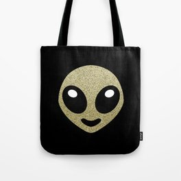 Alien smiley Tote Bag