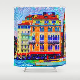 Gingerbread Gothic Venice Shower Curtain
