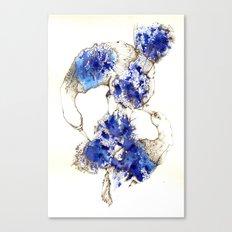 Oiseaux Bleu Canvas Print
