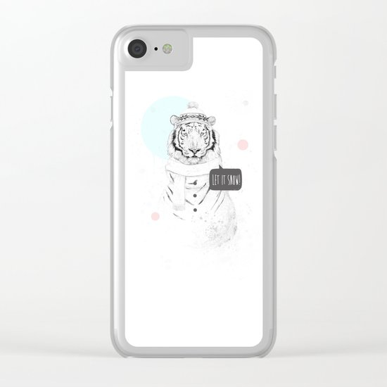 Snow tiger Clear iPhone Case