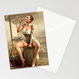 Sexy girl in The Witcher 3 Stationery Cards