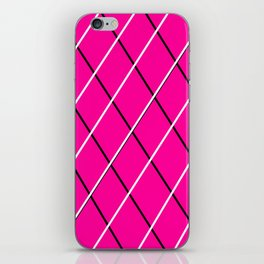 pink, black and white iPhone Skin