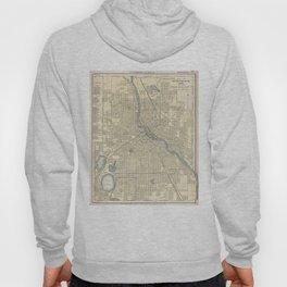 Vintage Map of Minneapolis MN (1891) Hoody