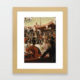 James Tissot - Women of Paris the circus lover Framed Art Print