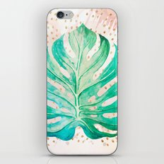 Leaf plant with golden points iPhone & iPod Skin