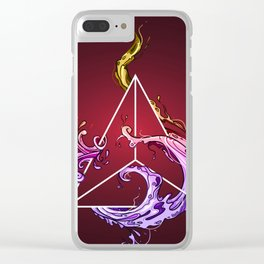 Tetrahedron Clear iPhone Case