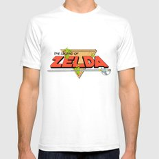The Legend of Zelda Logo Mens Fitted Tee SMALL White