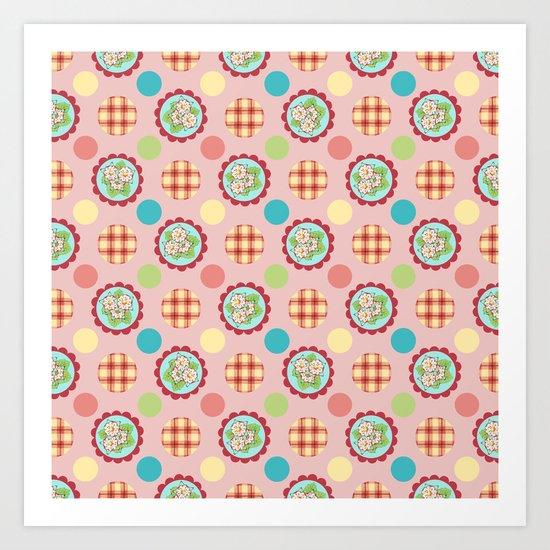 Heidi Polka Dots Art Print