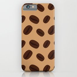 Cool Brown Coffee beans pattern iPhone Case