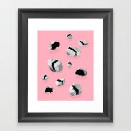 Space Rocks Framed Art Print